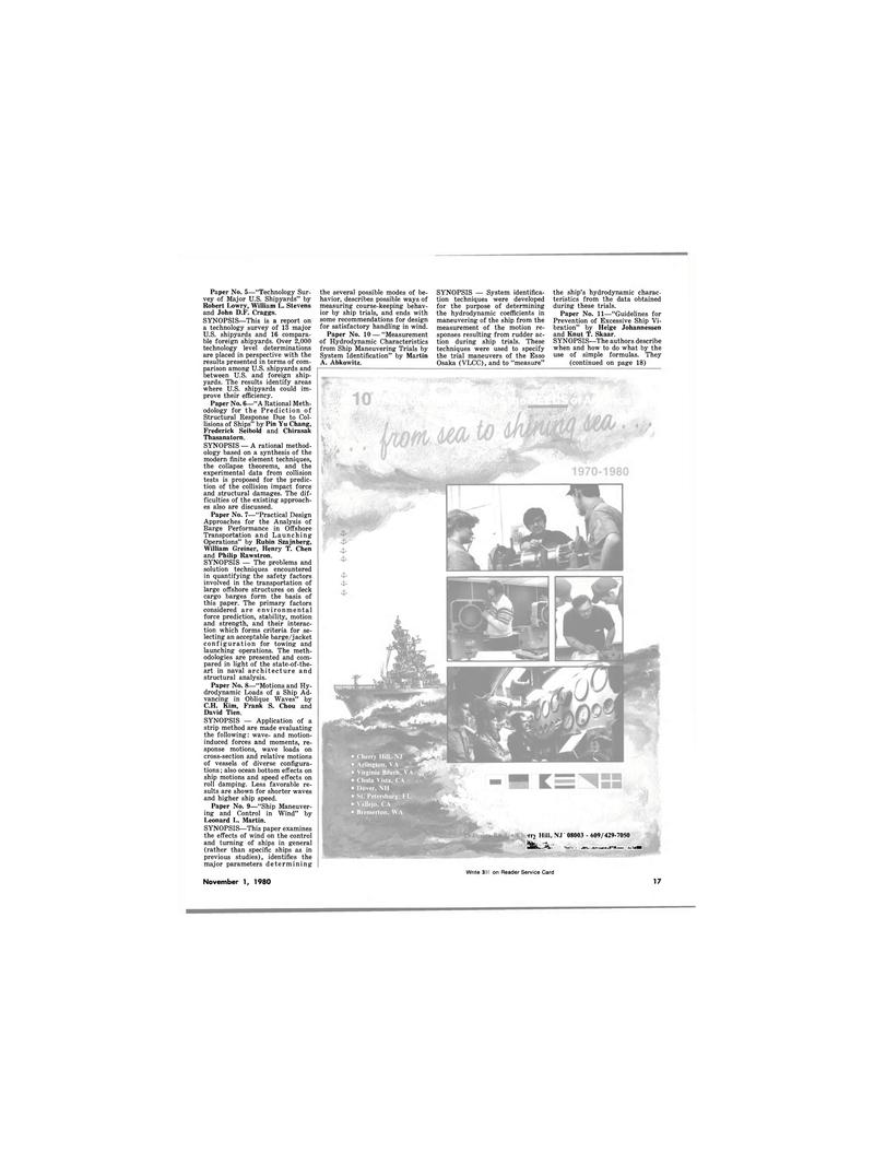 Maritime Reporter Magazine, page 17,  Nov 1980 New Jersey
