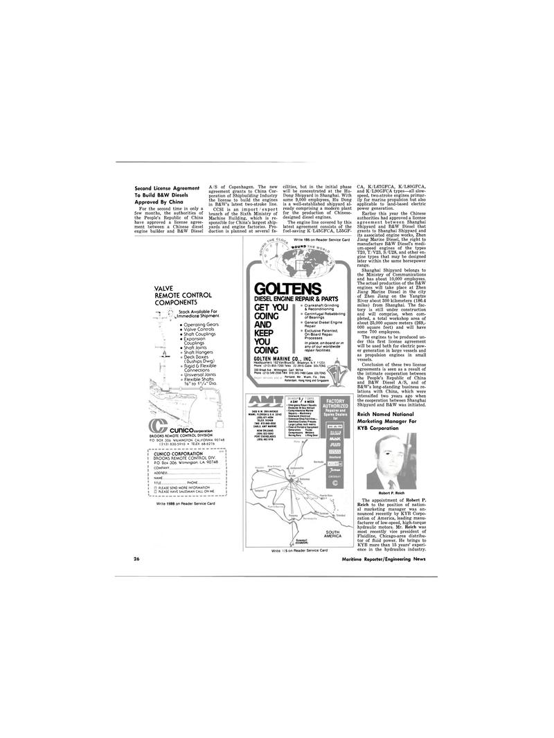 Maritime Reporter Magazine, page 26,  Nov 1980 Diesel Engine Repair