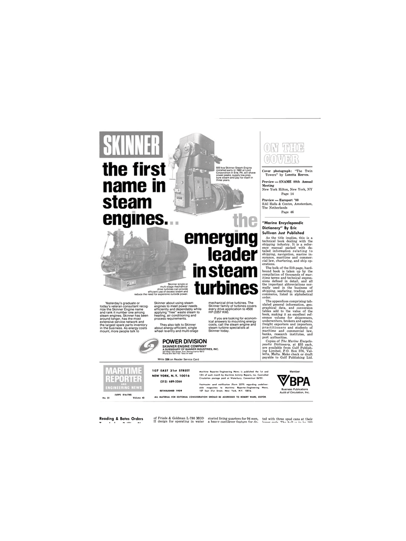 Maritime Reporter Magazine, page 2,  Nov 1980 Loretta Reeves