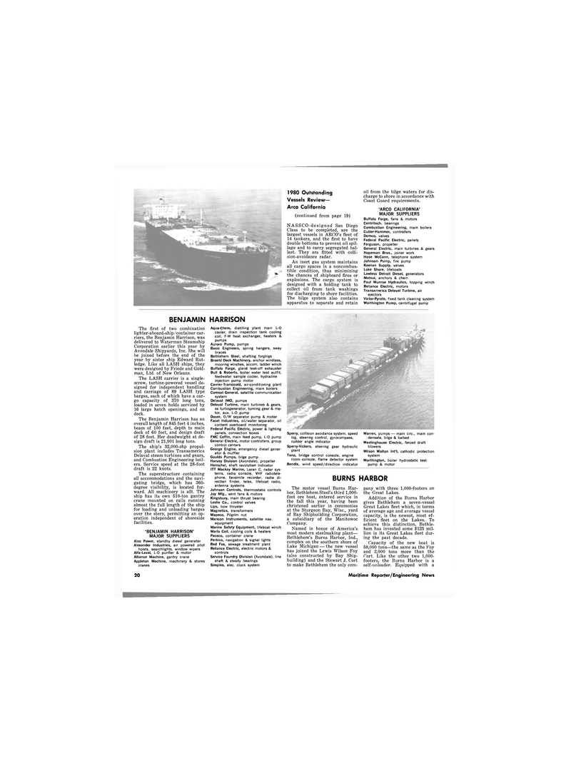Maritime Reporter Magazine, page 18,  Dec 1980 Burns Harbor