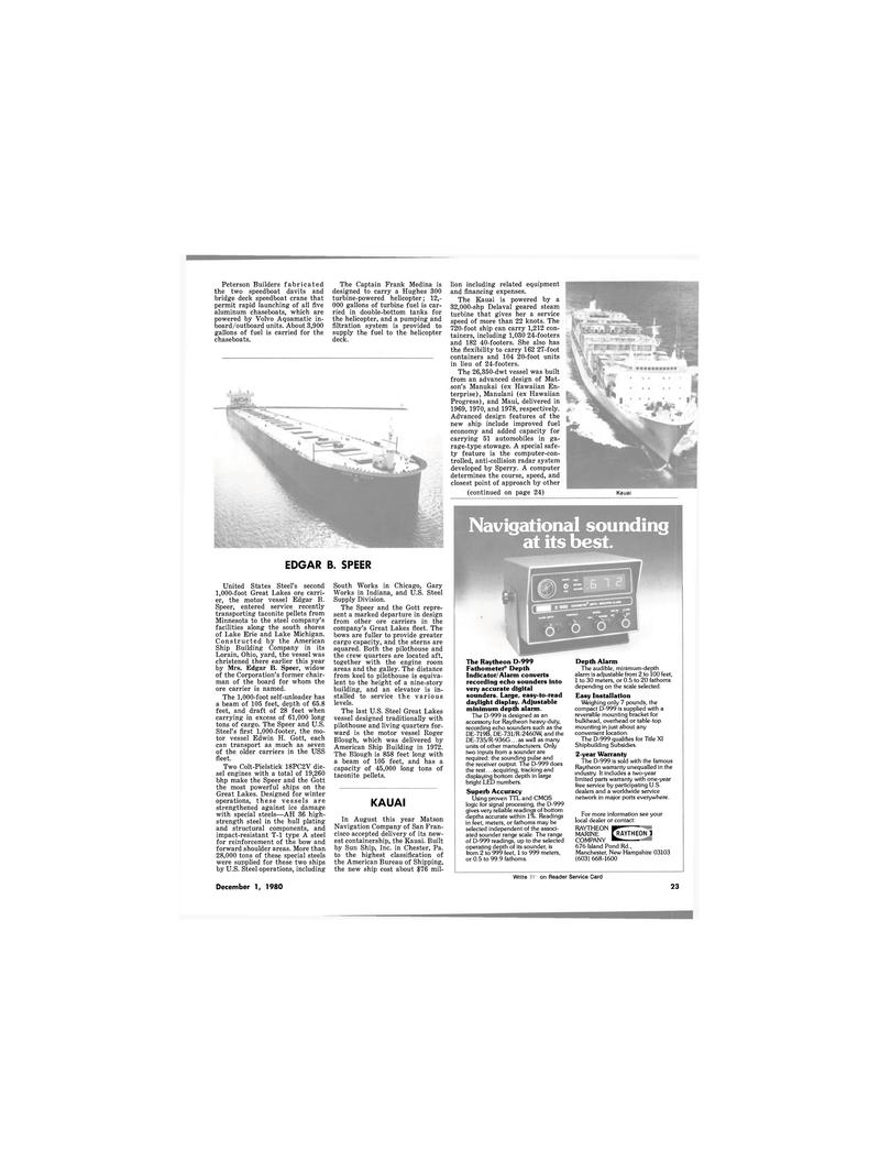Maritime Reporter Magazine, page 21,  Dec 1980 Indiana
