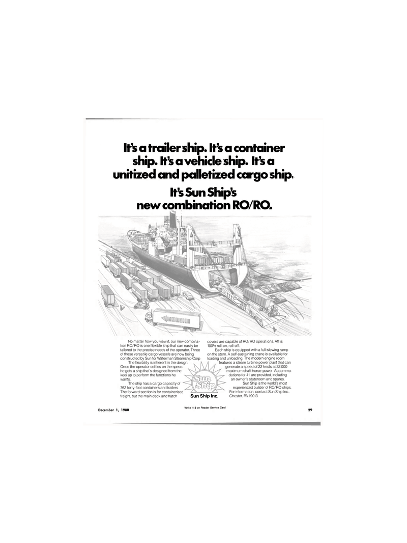 Maritime Reporter Magazine, page 3rd Cover,  Dec 1980