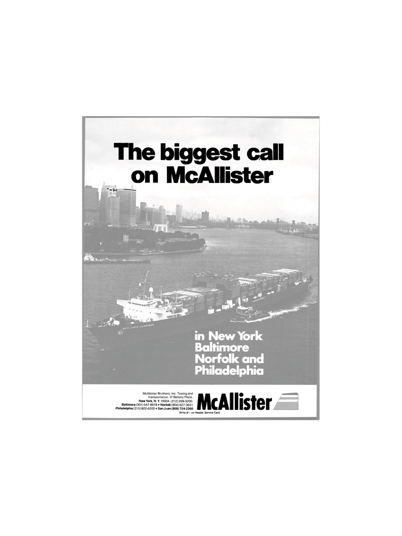 Maritime Reporter Magazine, page 1,  Dec 1980 McAllister Brothers Inc.