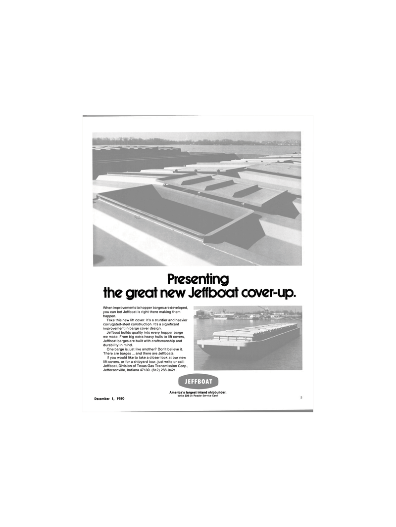 Maritime Reporter Magazine, page 3,  Dec 1980 sturdier and heavier corrugated-steel construction
