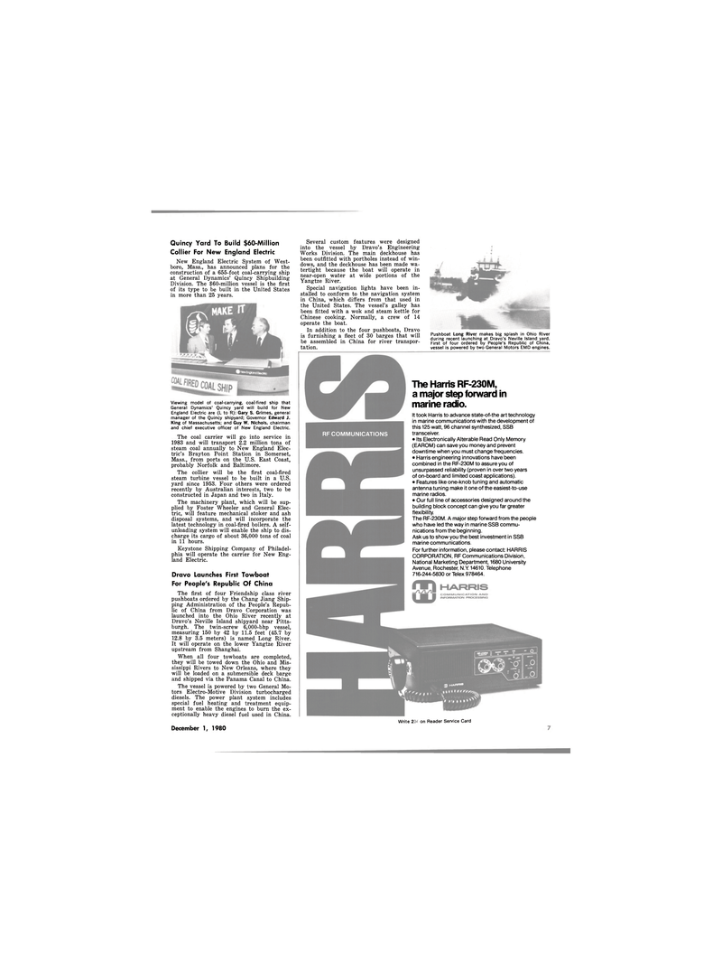 Maritime Reporter Magazine, page 5,  Dec 1980 N.Y