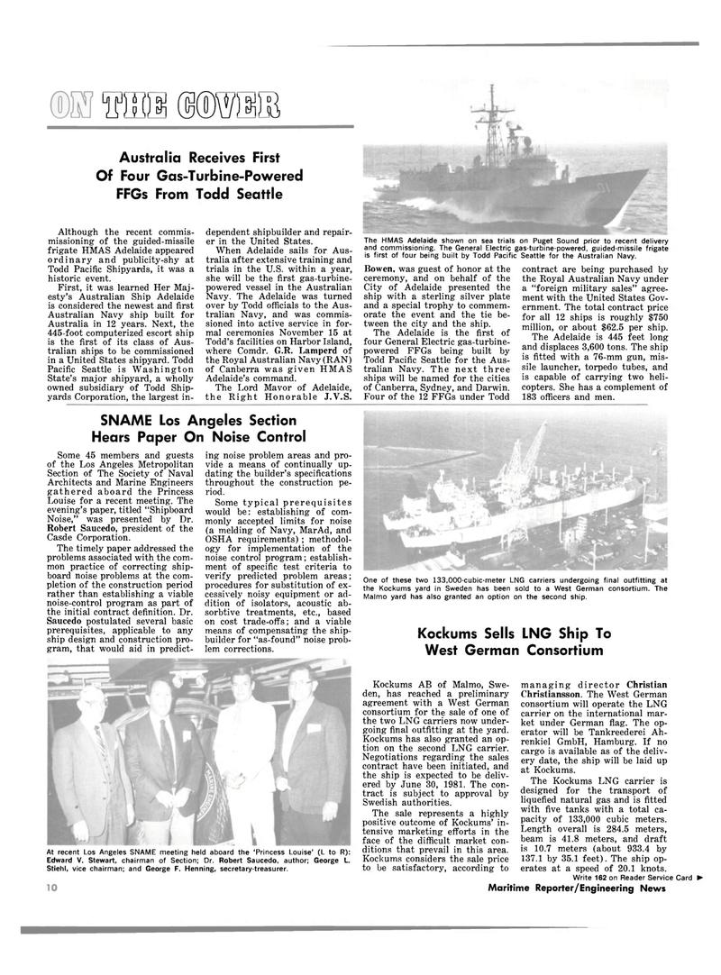 Maritime Reporter Magazine, page 8,  Jan 15, 1981 Christian Christiansson