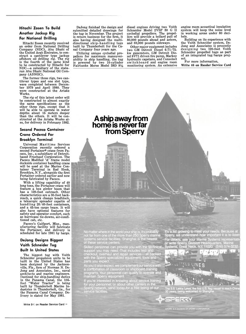 Maritime Reporter Magazine, page 21,  Jan 15, 1981 Florida