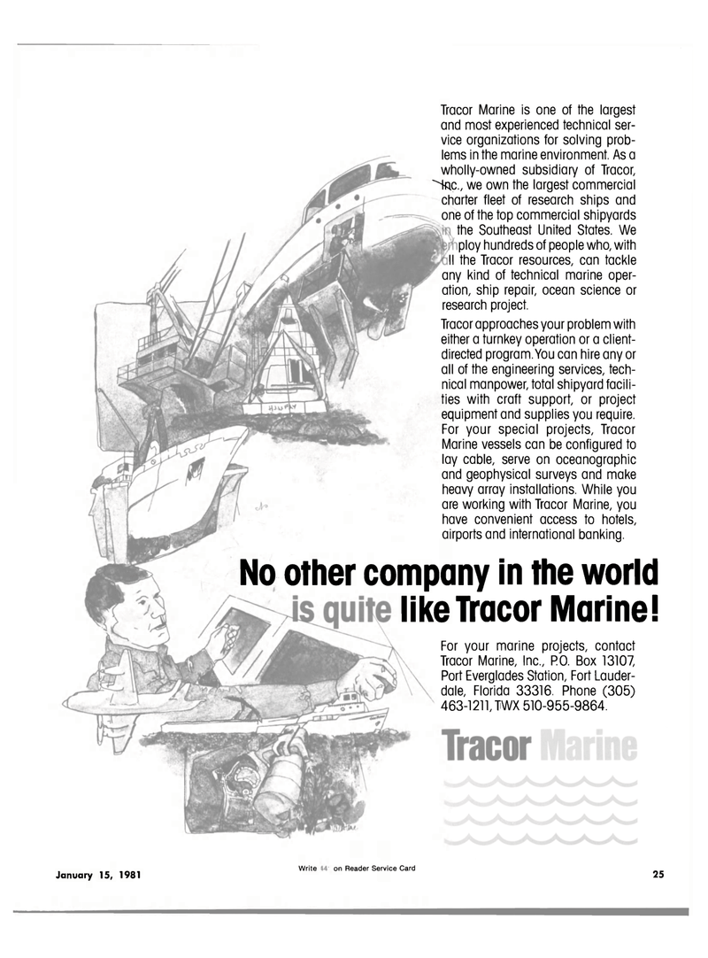 Maritime Reporter Magazine, page 23,  Jan 15, 1981 project equipment