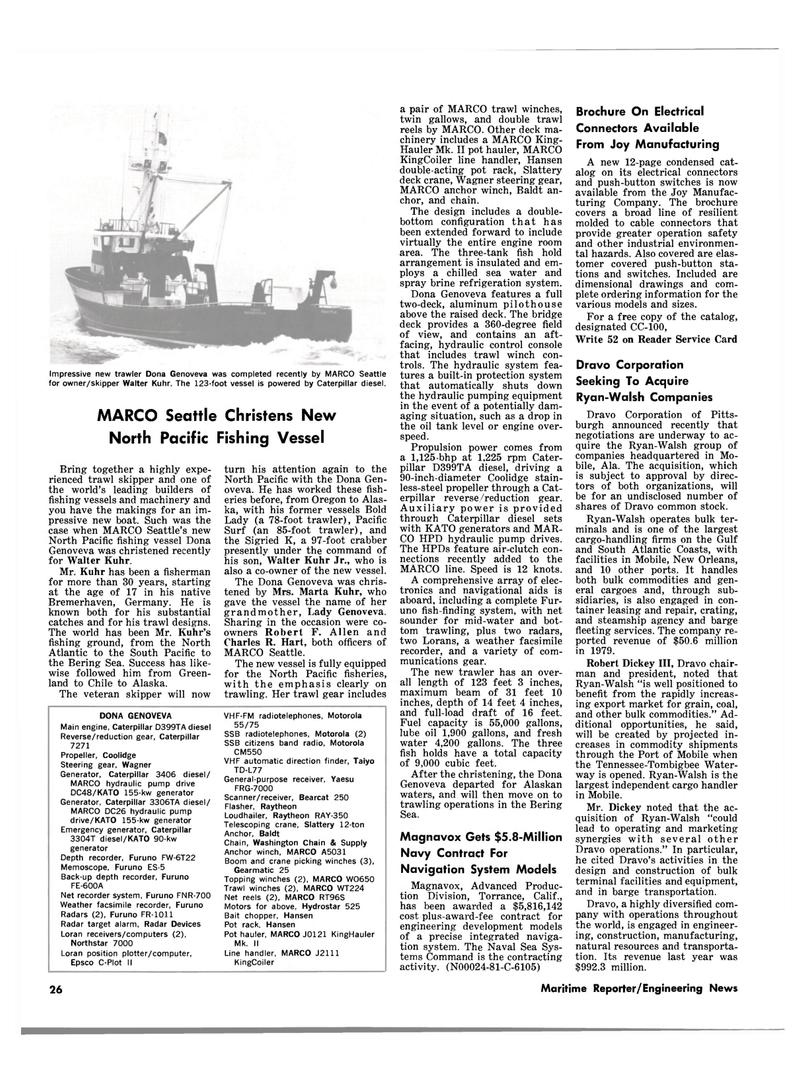 Maritime Reporter Magazine, page 24,  Jan 15, 1981 California
