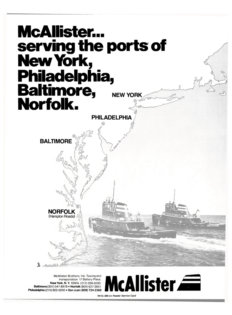 Maritime Reporter Magazine, page 1,  Jan 15, 1981 NORFOLK (Hampton Roads) McAllister Brothers Inc.