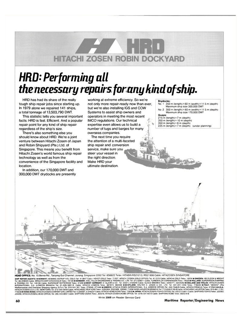 Maritime Reporter Magazine, page 60,  Jan 15, 1981 GREECE OFFICE