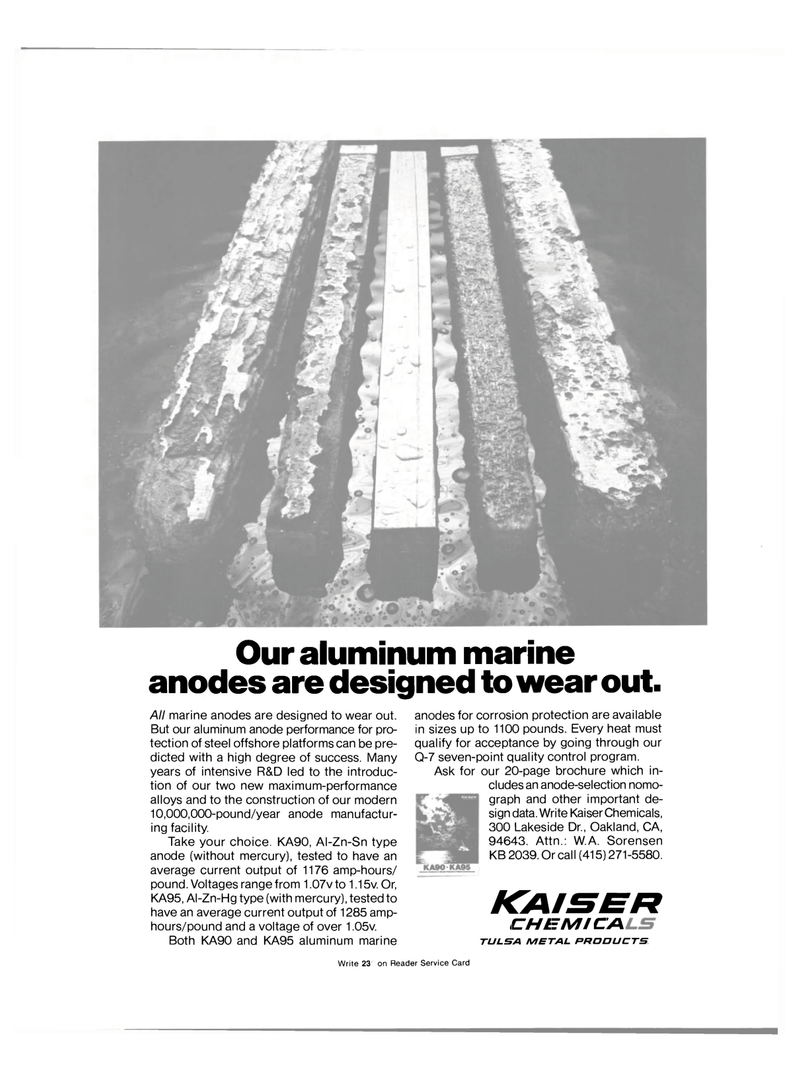Maritime Reporter Magazine, page 3rd Cover,  Jan 15, 1981 steel offshore platforms