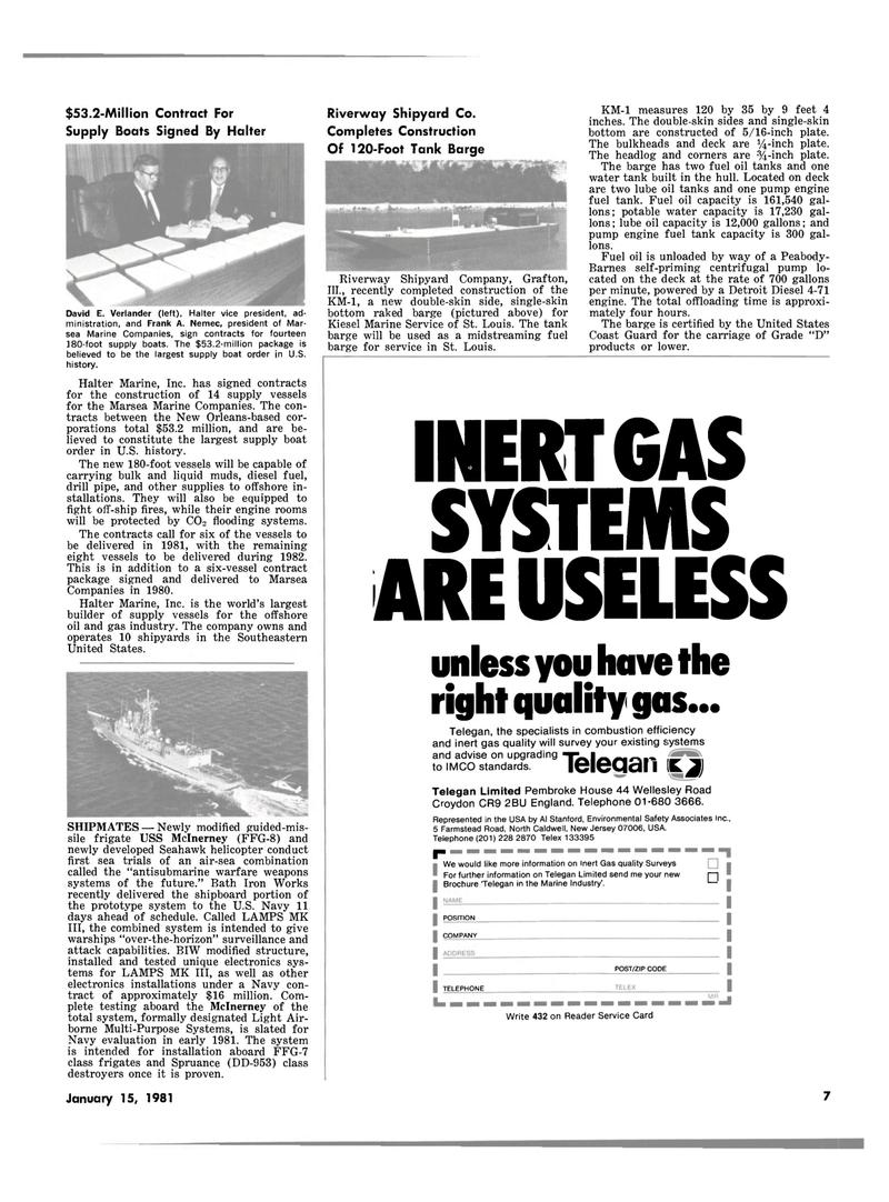 Maritime Reporter Magazine, page 5,  Jan 15, 1981 Al Stanford