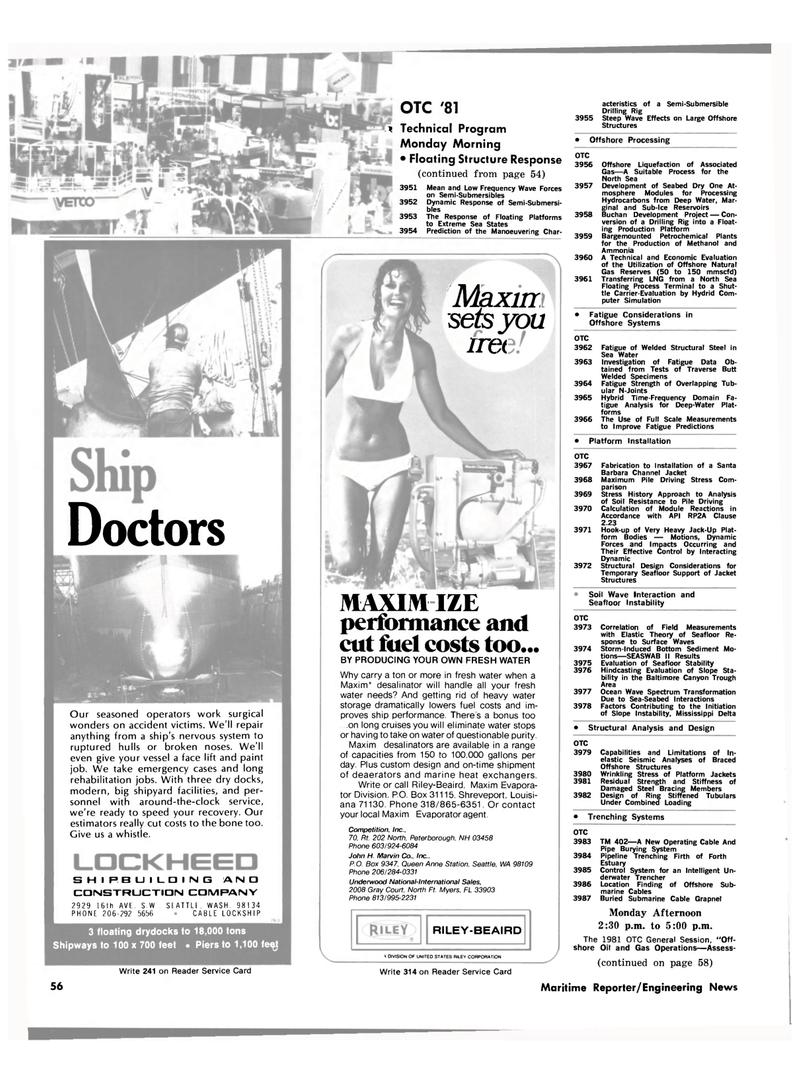 Maritime Reporter Magazine, page 54,  Apr 1981