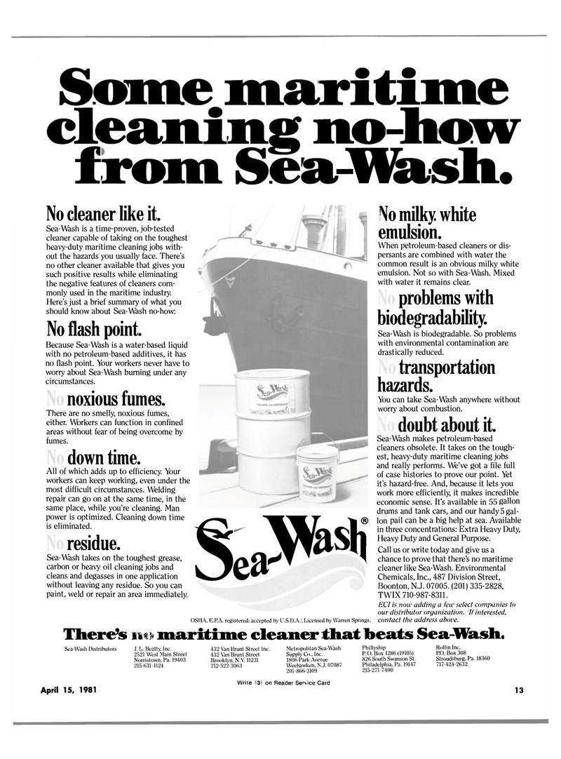 Maritime Reporter Magazine, page 11,  Apr 15, 1981 Warren Springs