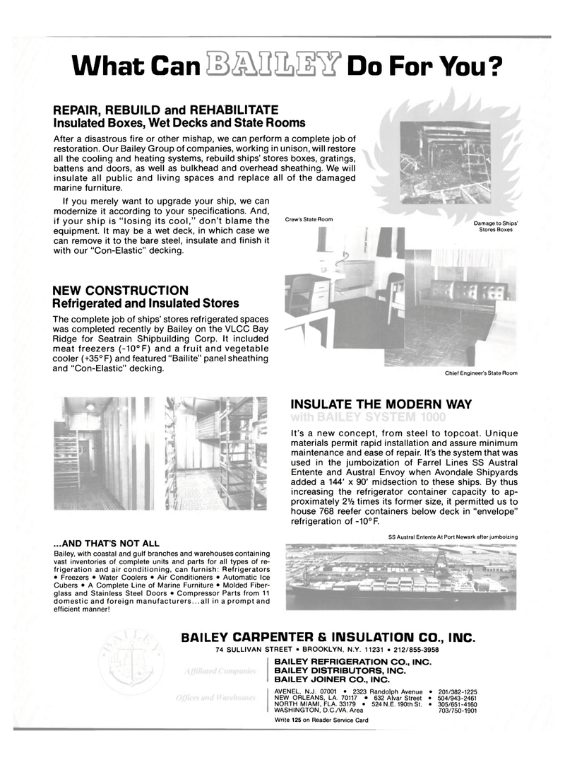 Maritime Reporter Magazine, page 2nd Cover,  Apr 15, 1981 Avondale Shipyards