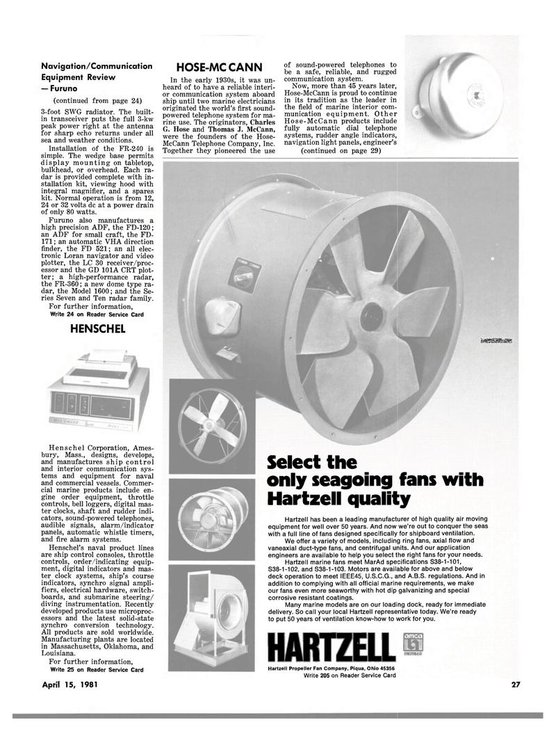 Maritime Reporter Magazine, page 25,  Apr 15, 1981 Ohio