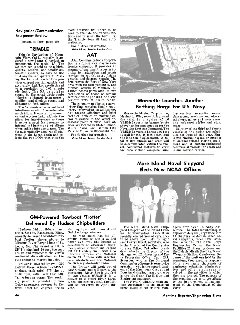 Maritime Reporter Magazine, page 44,  Apr 15, 1981 New Jersey