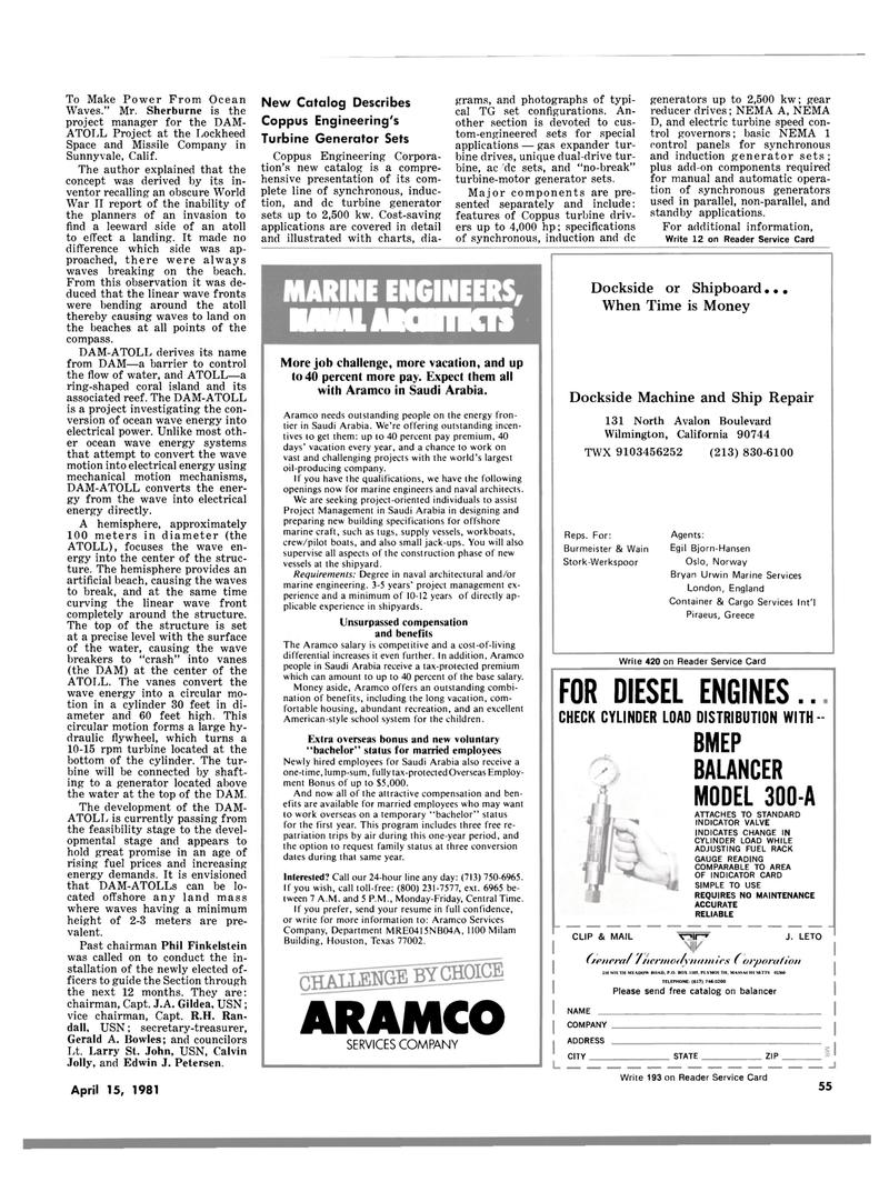 Maritime Reporter Magazine, page 53,  Apr 15, 1981 Bjorn-Hansen Oslo