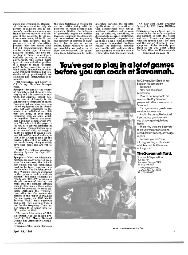 Maritime Reporter Magazine, page 5,  Apr 15, 1981 H.L. Peterson