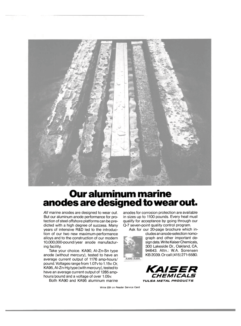 Maritime Reporter Magazine, page 3rd Cover,  Apr 15, 1981 steel offshore platforms