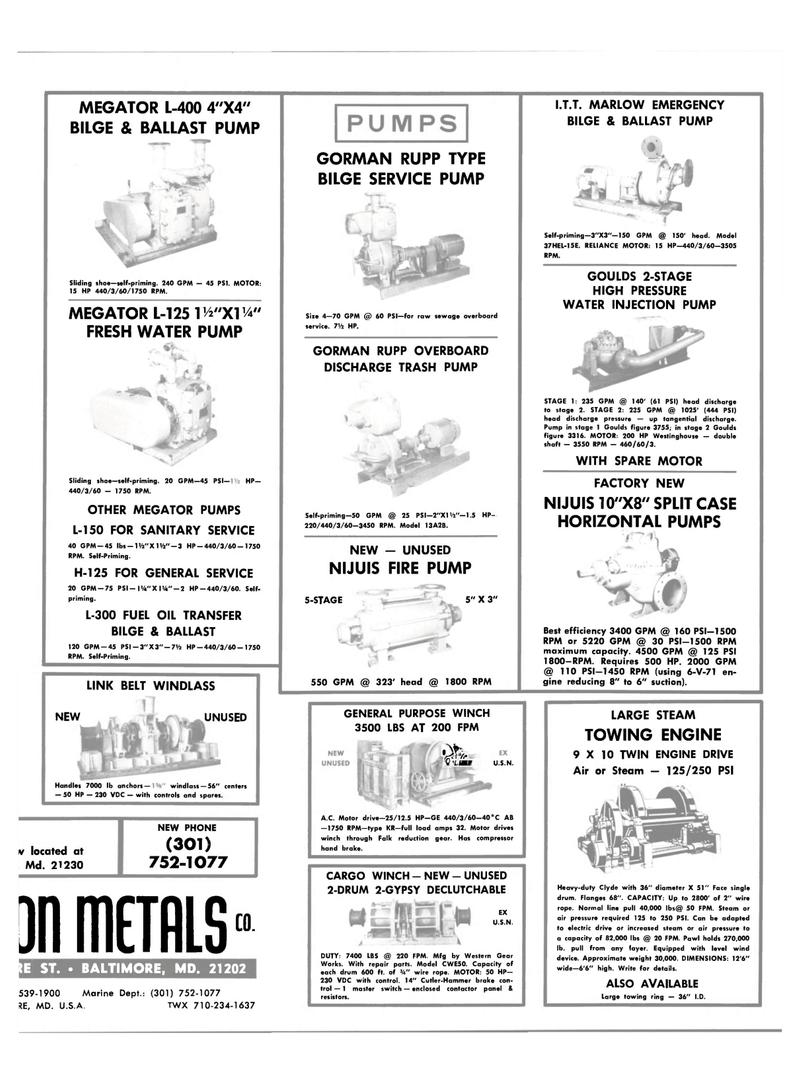 24 Maritime Reporter Magazine, page 25, Aug 15, 1981 MEGATOR PUMPS L-150 ...
