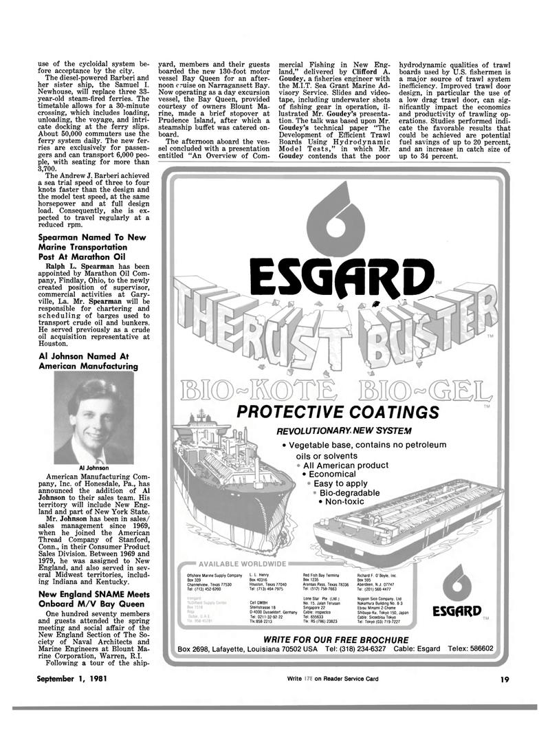 Maritime Reporter Magazine, page 17,  Sep 1981 Connecticut