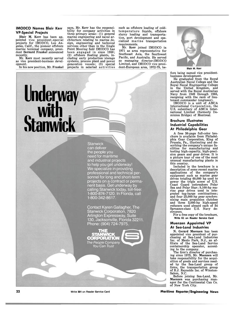Maritime Reporter Magazine, page 20,  Sep 1981 Florida