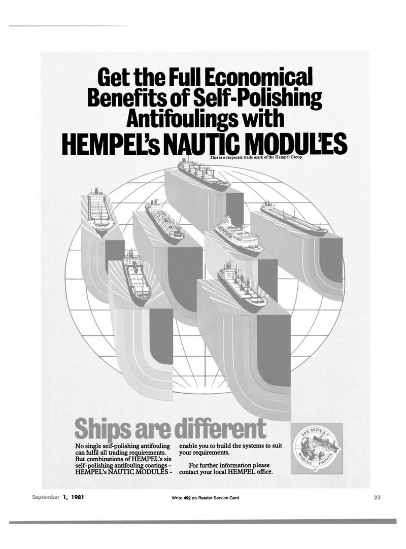 Maritime Reporter Magazine, page 21,  Sep 1981 Hempel Group