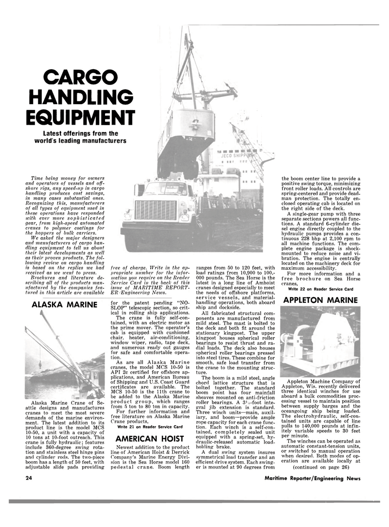 Maritime Reporter Magazine, page 22,  Sep 1981 Shipping and U.S. Coast Guard