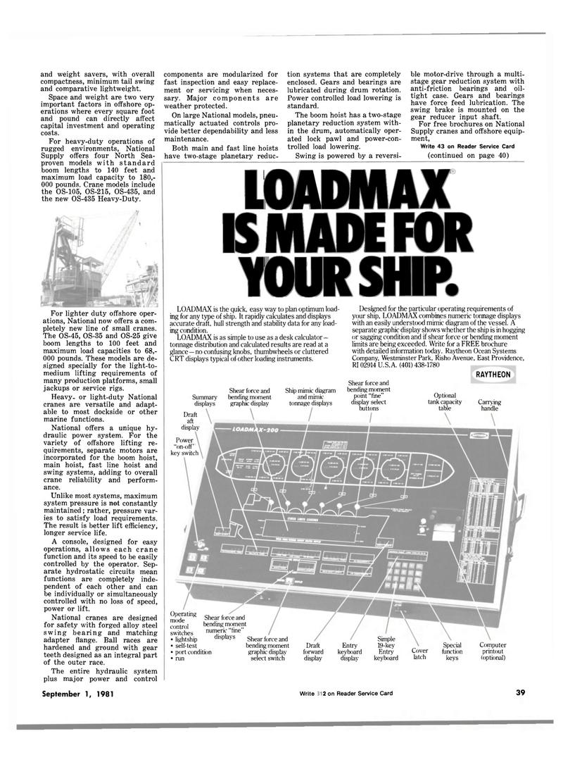 Maritime Reporter Magazine, page 37,  Sep 1981 steel swing bearing