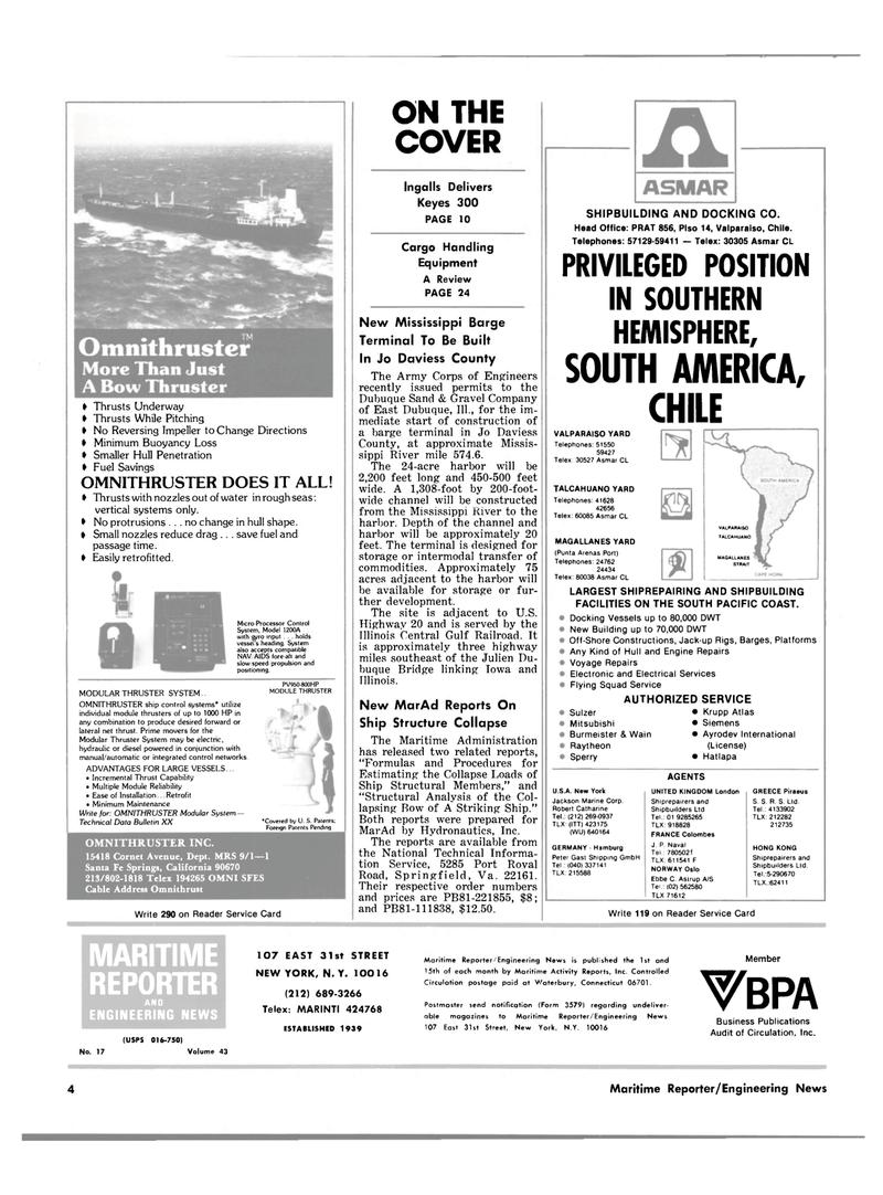 Maritime Reporter Magazine, page 2,  Sep 1981 Iowa