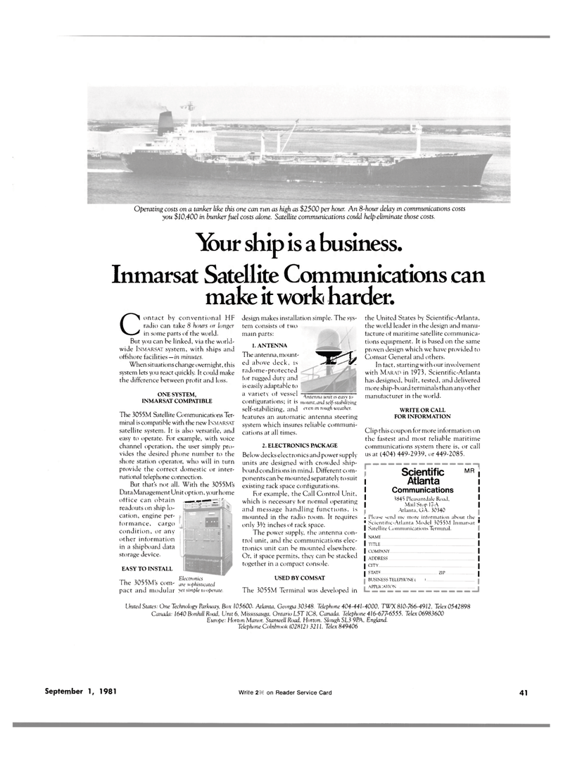 Maritime Reporter Magazine, page 39,  Sep 1981 Call Control Unit