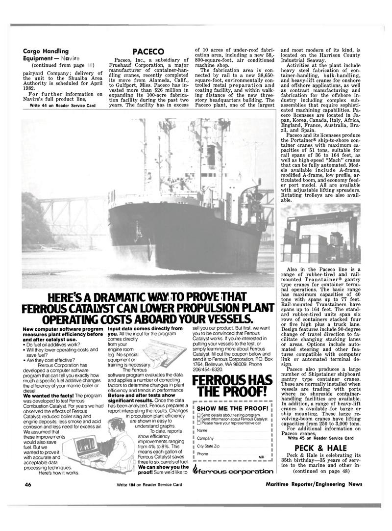Maritime Reporter Magazine, page 44,  Sep 1981 Shuaiba Area Authority