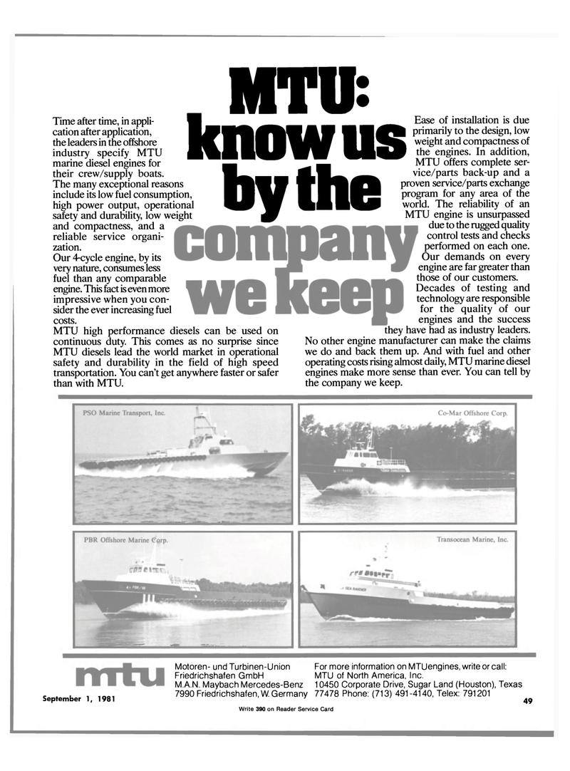 Maritime Reporter Magazine, page 47,  Sep 1981 Friedrichshafen GmbH