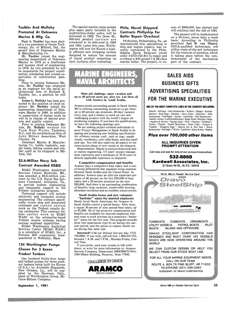 Maritime Reporter Magazine, page 53,  Sep 1981 Oklahoma