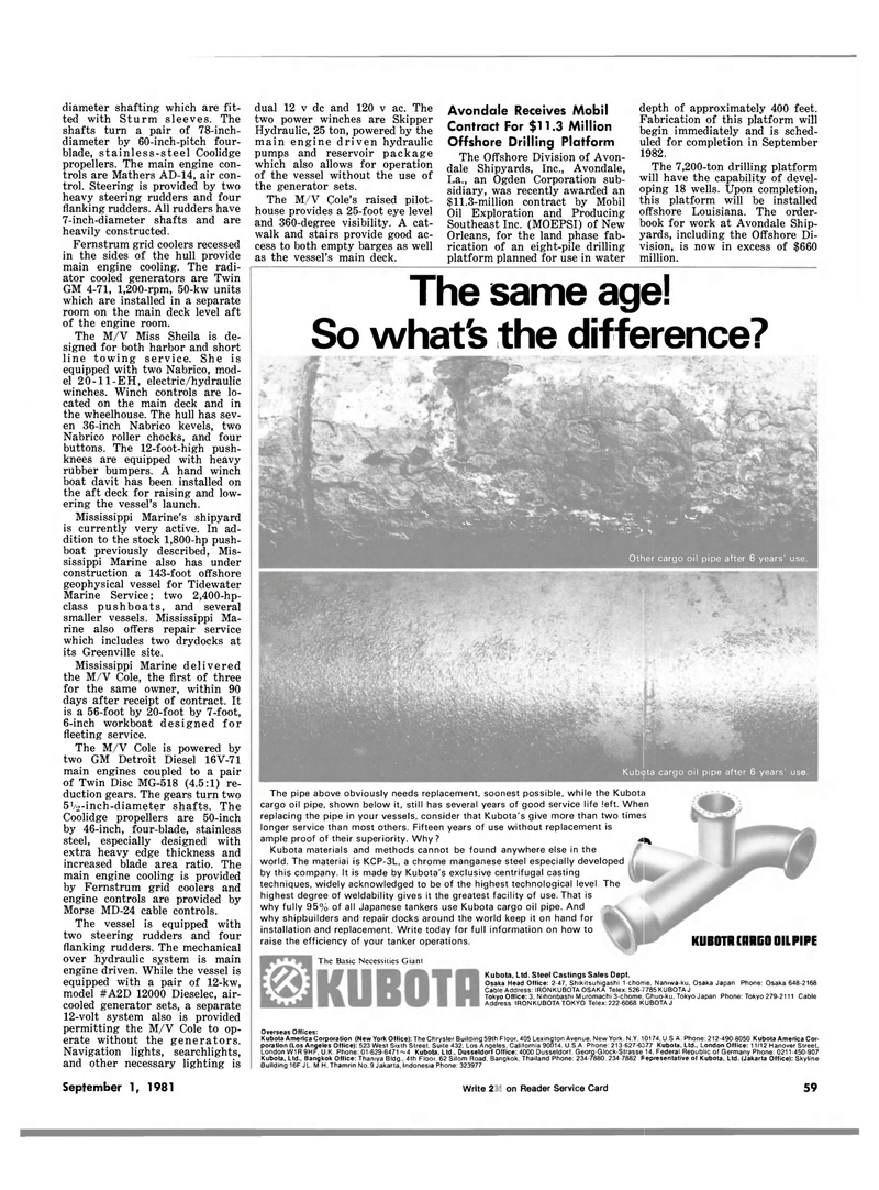 Maritime Reporter Magazine, page 57,  Sep 1981 MD-24