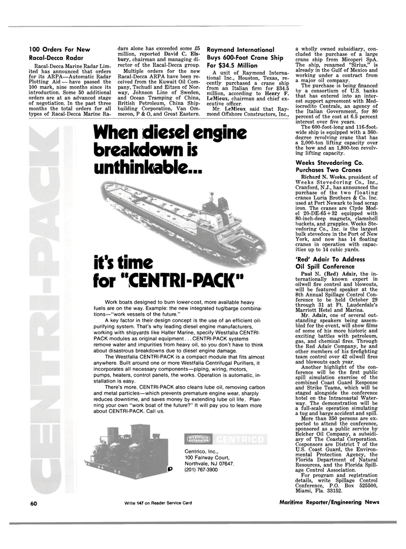 Maritime Reporter Magazine, page 58,  Sep 1981 Florida