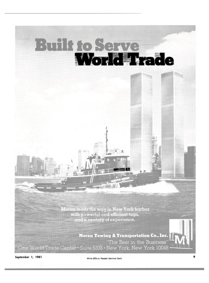 Maritime Reporter Magazine, page 7,  Sep 1981 Moran Towing & Transportation Co. Inc.