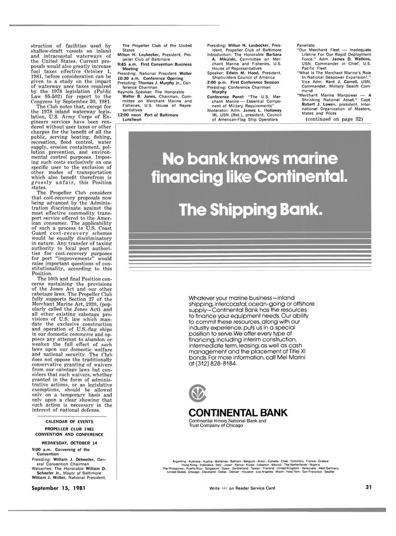 Public Law, Maritime Reporter Magazine September 15, 1981 #29