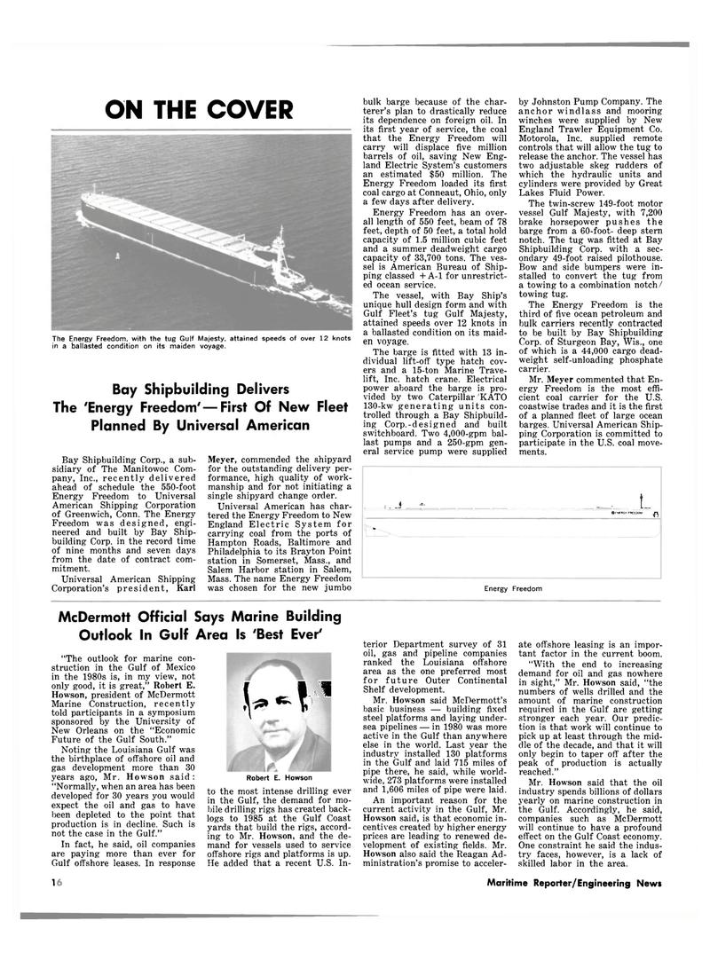 Maritime Reporter Magazine, page 12,  Oct 1981 Louisiana
