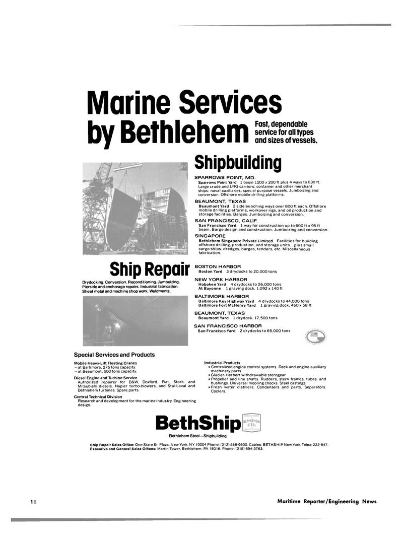 Maritime Reporter Magazine, page 14,  Oct 1981 Maryland