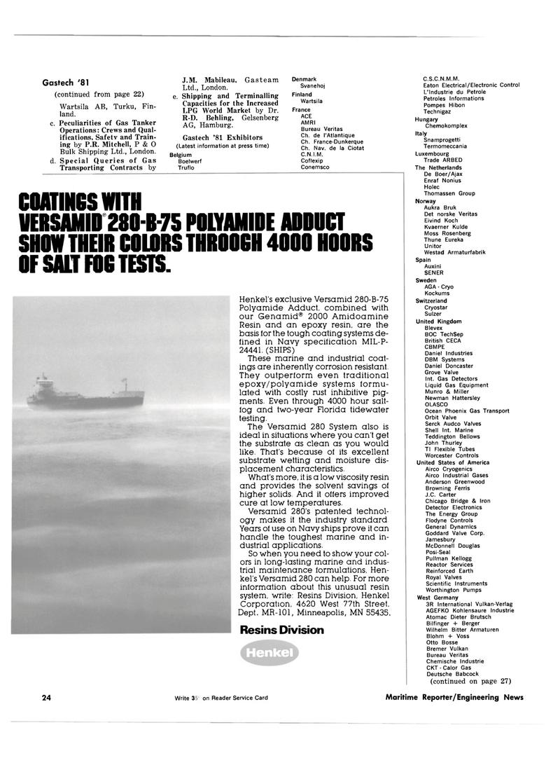 Maritime Reporter Magazine, page 22,  Oct 1981