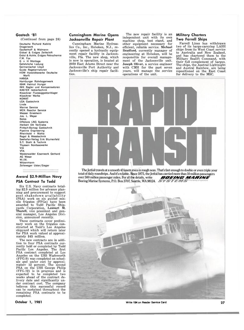 Maritime Reporter Magazine, page 23,  Oct 1981