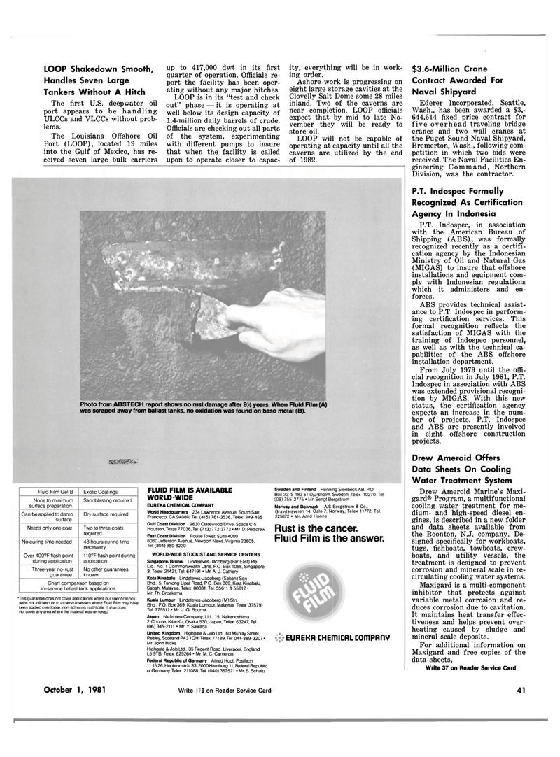 Maritime Reporter Magazine, page 33,  Oct 1981 east coast