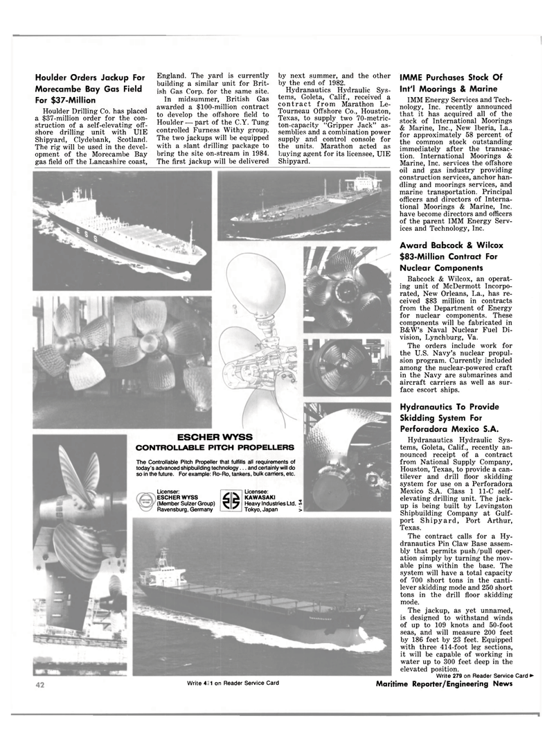 Maritime Reporter Magazine, page 34,  Oct 1981 Navy