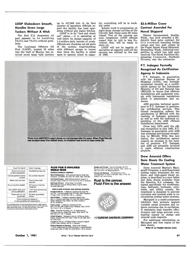 Maritime Reporter Magazine, page 35,  Oct 1981 east coast