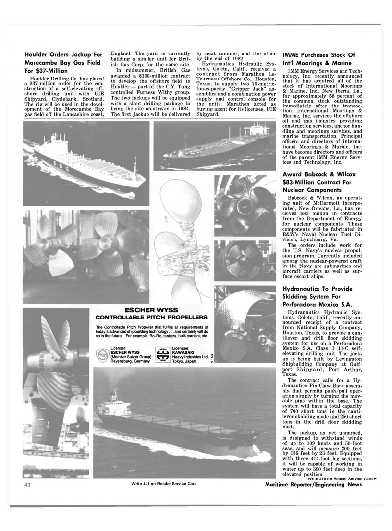 Maritime Reporter Magazine, page 36,  Oct 1981 Navy