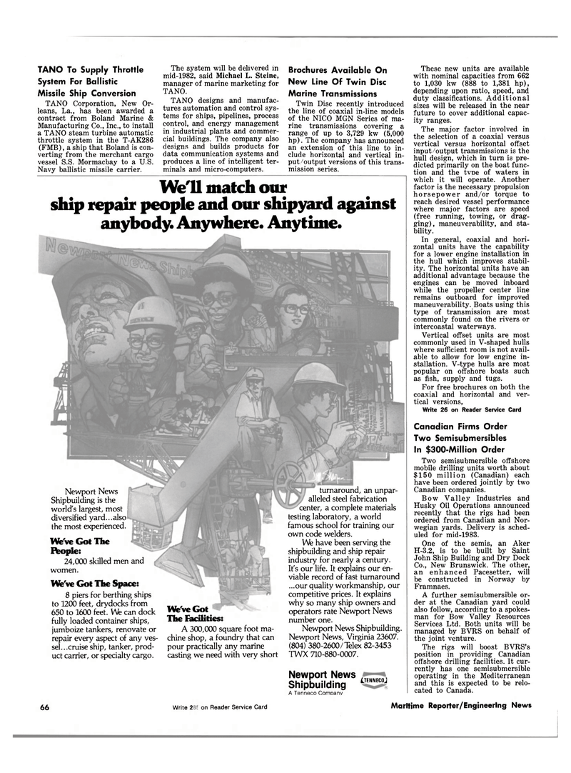 Maritime Reporter Magazine, page 60,  Oct 1981 Virginia