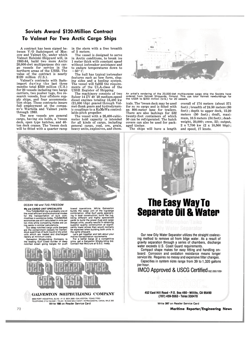 Maritime Reporter Magazine, page 4th Cover,  Oct 1981 Gulf coast